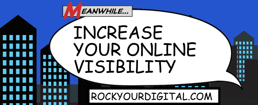 Speech bubble with the words: Increase your online visibility