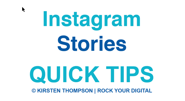 Instagram Stories Quick Tips grpahic