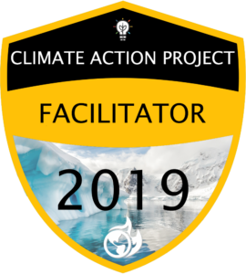 Climate Action Project Facilitator 2019 digital badge