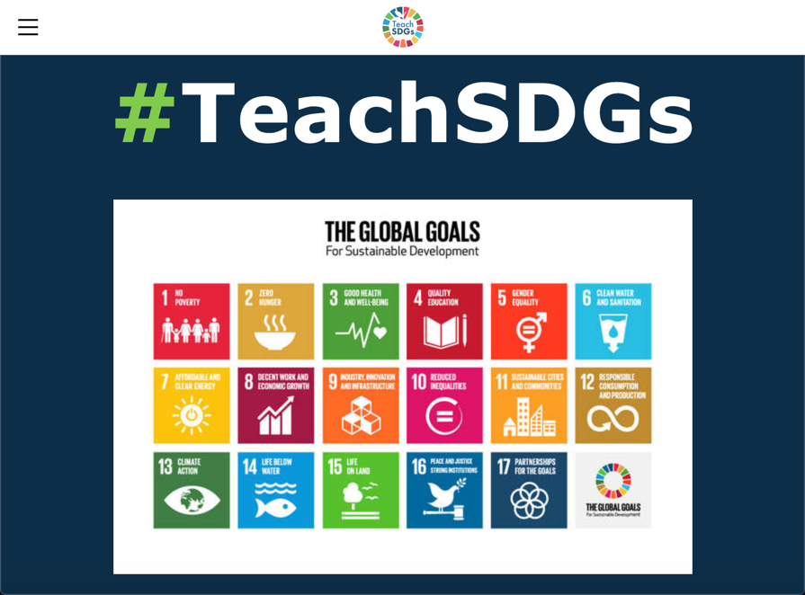 Teach SDGs website