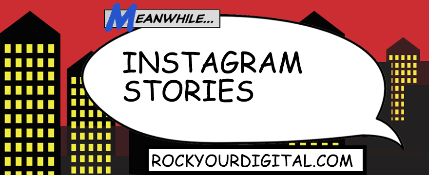 Speech bubble with words 'Instagram Stories