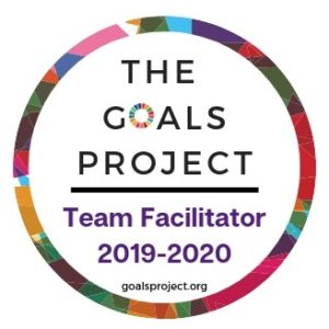 """Digital badge for"""" """"The Goals Project - Team Facilitator 2019-2020 goalsproject.org"""""""